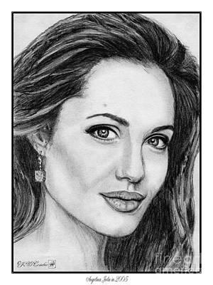 Angelina Jolie In 2005 Print by J McCombie