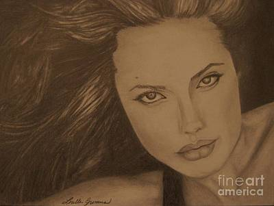 Drawing - Angelina Jolie by Lorelle Gromus