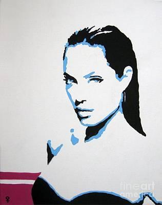 Celebrities Painting - Angelina Jolie by Venus