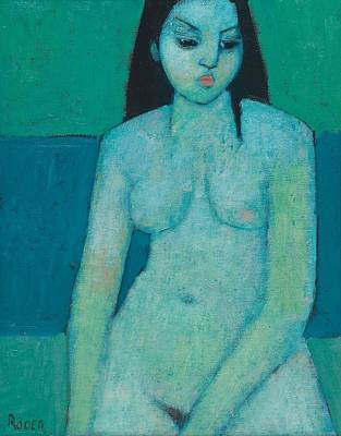 Angelina Nude Art Print by Endre Roder