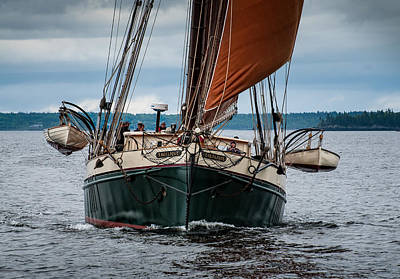 Windjammer Photograph - Angelique Bow On by Fred LeBlanc