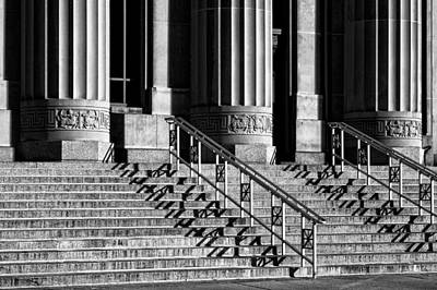 Photograph - Angell Hall Steps by James Howe