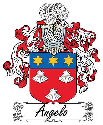 Angelo Coat Of Arms Italian Art Print