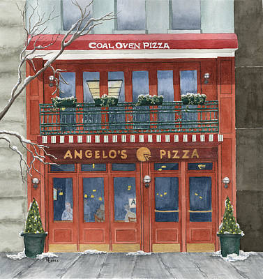 Store Fronts Painting - Angelo's On 57th Street by Rhonda Leonard
