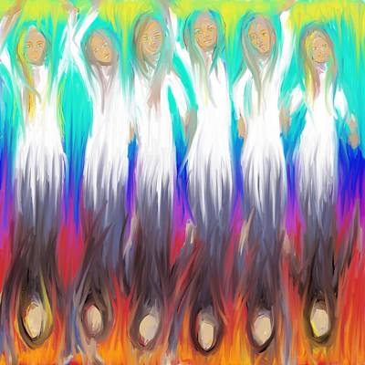 Painting - Angels 3 26 2014 by Hidden  Mountain