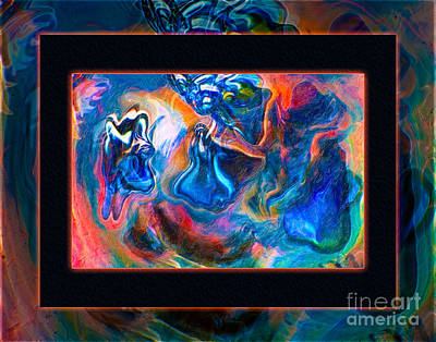 Painting - Angels And Other Protective Forces Abstract Healing Art by Omaste Witkowski