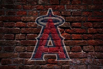 Centerfield Photograph - Angels Baseball Graffiti On Brick  by Movie Poster Prints