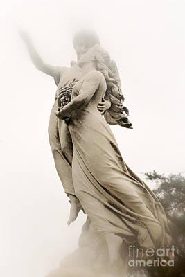 Angels Fine Art - Dreamy Angel Spiritual Angel Art - Angels Ascending To Heaven Art Print by Kathy Fornal