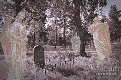 Digital Art - Angels Guard The Cemetery by Nareeta Martin