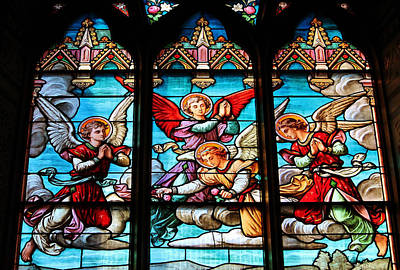 Photograph - Angels In Heaven Stained Glass by Michael Saunders