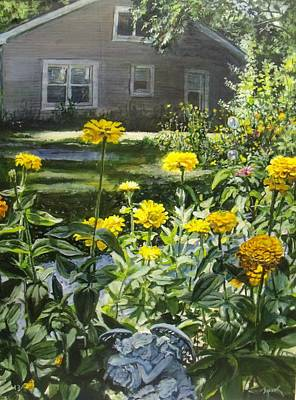 Painting - Angels In My Yard by William Brody