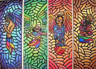 Painting - Angels Of San Francisco by Marconi Calindas
