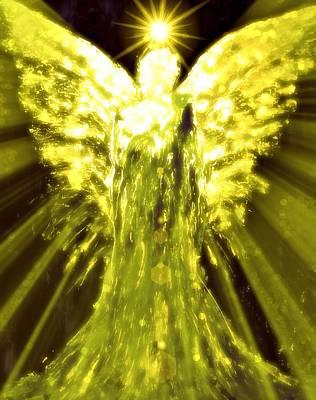 Angels Of The Golden Light Anscension II Art Print