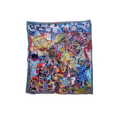 Tapestry - Textile - Angels Over The City by Gwendolyn Aqui-Brooks
