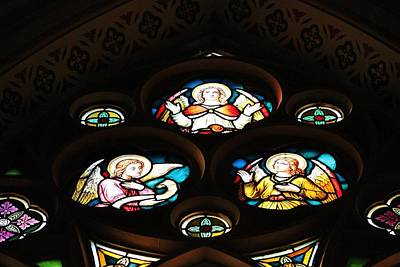 Photograph - Angels Stained Glass by Michael Saunders