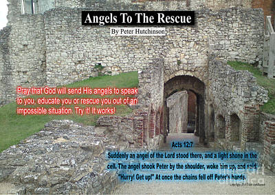 Photograph - Angels To The Rescue by Bible Verse Pictures