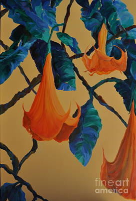 Trumpet Painting - Angel's Trumpet Song by Lynn Rattray
