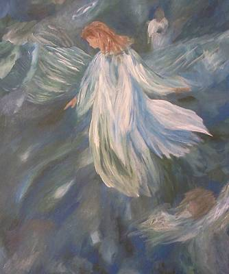 Angels Watching Over Us Art Print by Christy Saunders Church