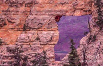 Grand Canyon Digital Art - Angels Window Grand Canyon Arizona Usa by Liz Leyden
