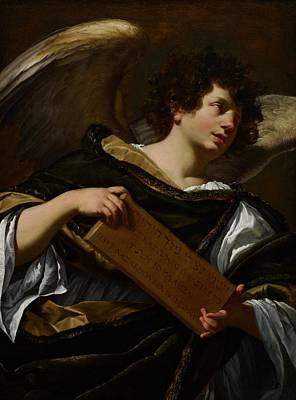 Tablet Painting - Angels With Attributes Of The Passion by Simon Vouet