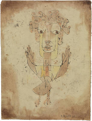 Surrealism Royalty Free Images - Angelus Novus Royalty-Free Image by Paul Klee