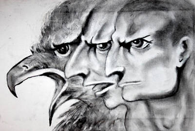 Crying Drawing - Anger 1 by Fatimah AL-khtani