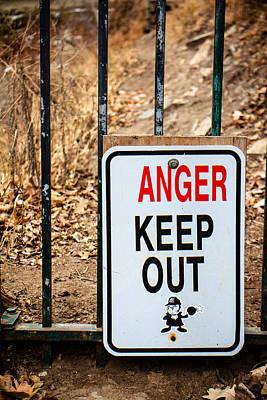Minnehaha Falls Photograph - Anger Keep Out by Lauri Novak