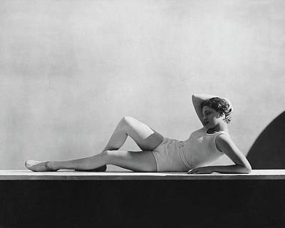 Black And White Photograph - Angeta Fischer In Schiaparelli by George Hoyningen-Huene