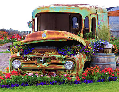 Photograph - Angies Flower Truck by Karon Melillo DeVega