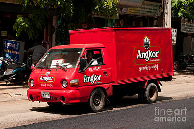 Photograph - Angkor Beer Truck by Rick Piper Photography