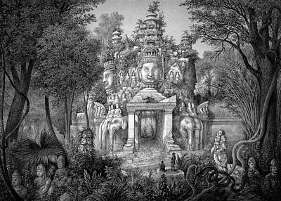 1873 Photograph - Angkor Temple by Cci Archives