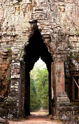 Photograph - Angkor Thom East Gate 02 by Rick Piper Photography