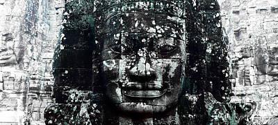 Angkor Thom Art Print by Julian Cook