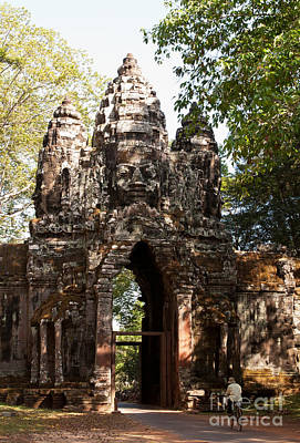 Photograph - Angkor Thom North Gate 01 by Rick Piper Photography