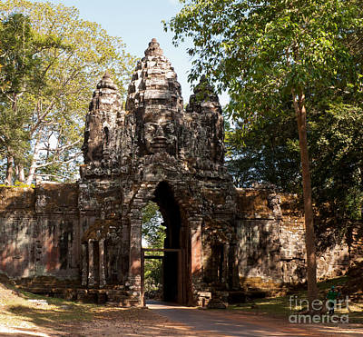 Photograph - Angkor Thom North Gate 02 by Rick Piper Photography