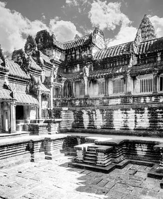 Courtyard Gallery Photograph - Angkor Wat by Alexey Stiop