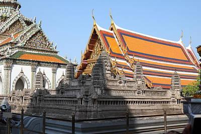 Angkor Wat Model - Grand Palace In Bangkok Thailand - 01131 Art Print