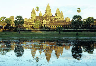 Photograph - Angkor Wat Reflections 01 by Rick Piper Photography