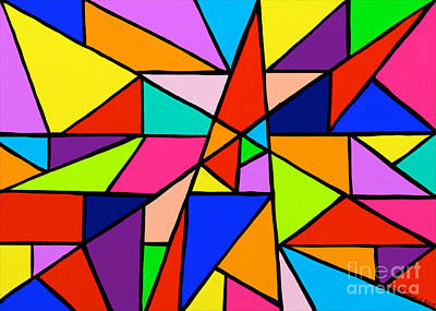 Painting - Angle Fun by Anita Lewis