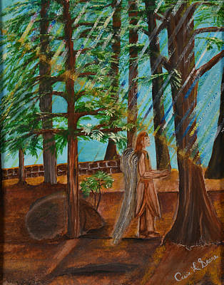 Art Print featuring the painting Angle In Idyllwild by Cassie Sears