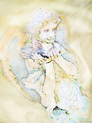 Digital Art - Angle With Dove Photoart by Debbie Portwood