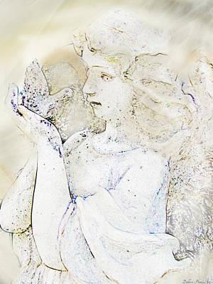 Digital Art - Angle With Dove Photoart II by Debbie Portwood