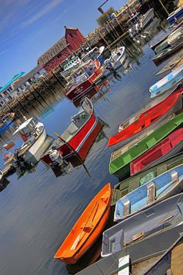 Row Boat Photograph - Angled Motif by Joann Vitali