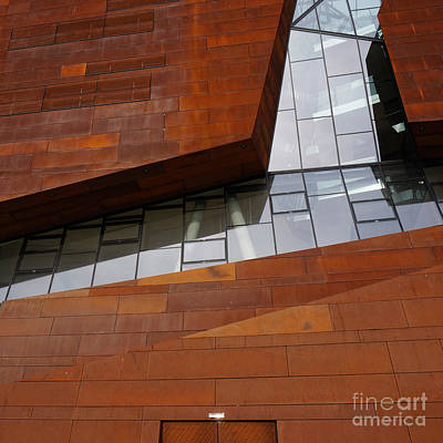 Photograph - Angled Rust And Glass Square by Menega Sabidussi