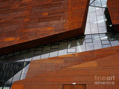 Photograph - Angled Rust And Glass Wu Campus  by Menega Sabidussi