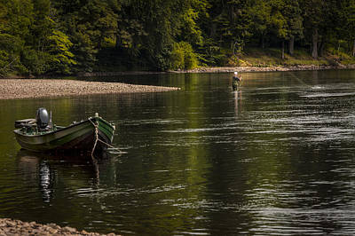 Photograph - Fisherman River Tay by Alex Saunders
