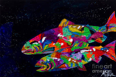 Trout Painting - Anglers Dream by Tracy Miller