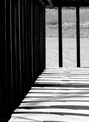 Photograph - Angles And Shadows - Black And White by Shawna Rowe