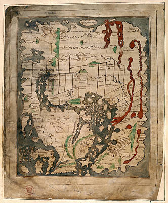 Cartography Photograph - Anglo-saxon World Map by British Library