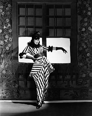 Angna Enters Miming While Wearing A Costume Art Print